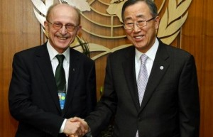 Willi Lemke und UN-General Ban Ki-moon